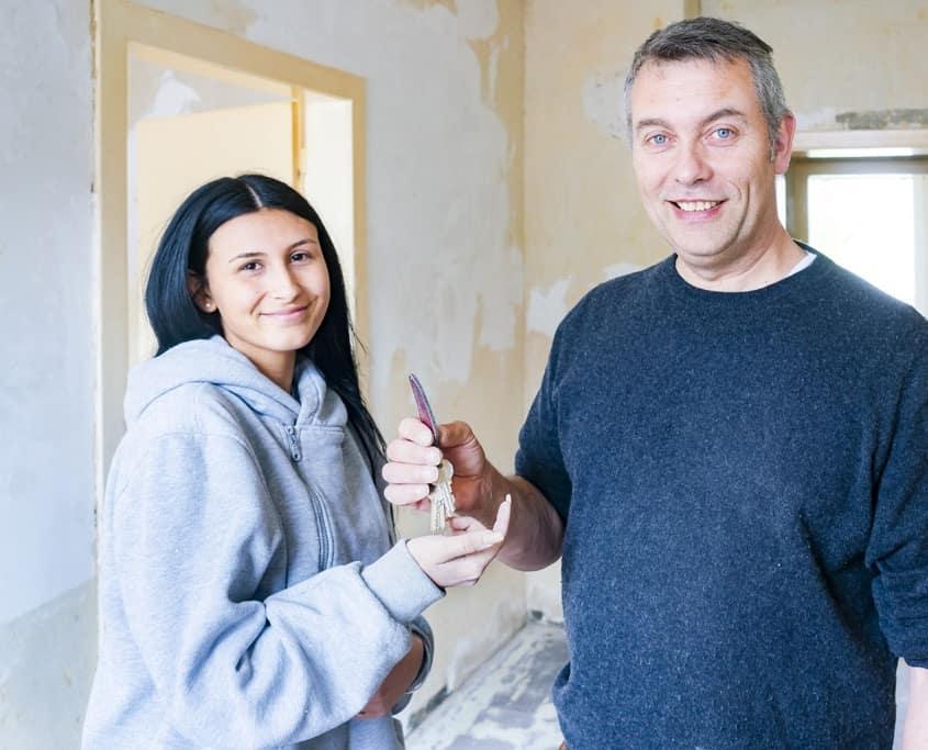 Wohnungsübergabe einer renovierten Wohnung durch Rumpellotte