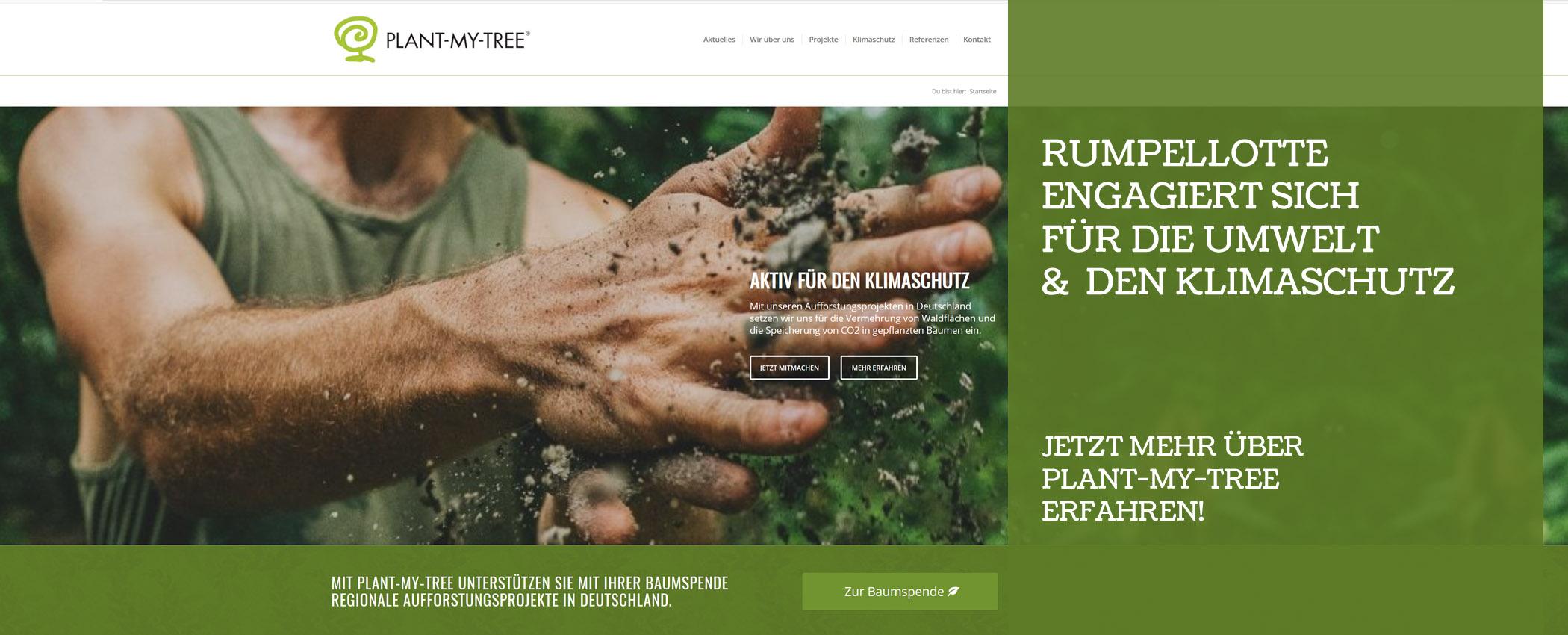 Rumpellotte engagiert sich für die Umwelt und beteiligt sich an Plant-My-Tree