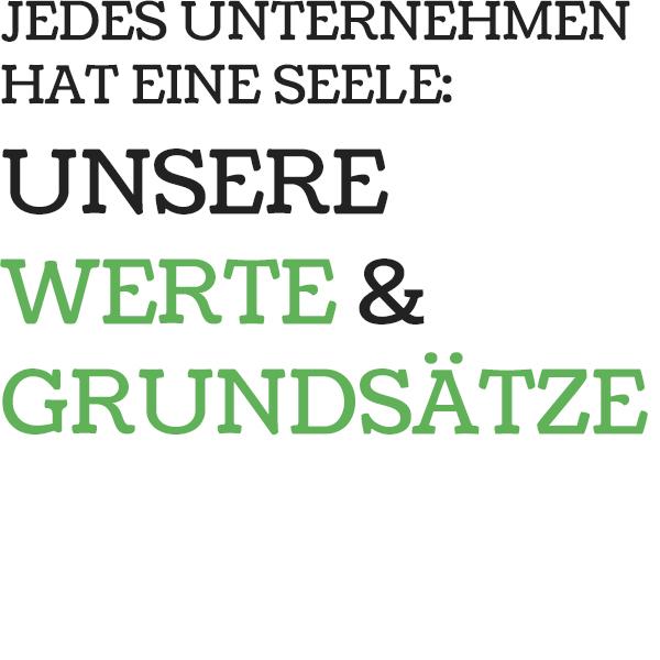 Unternehmenswerte der Firma Rumpellotte mit Sitz in Oberhausen